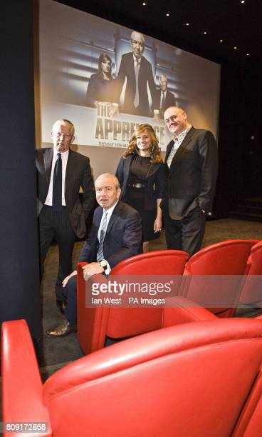 Nick Hewer Lord Alan Sugar Karren Brady and Dara O'Briain at a photocall at The Soho Hotel London to launch this years series of the BBC programme...
