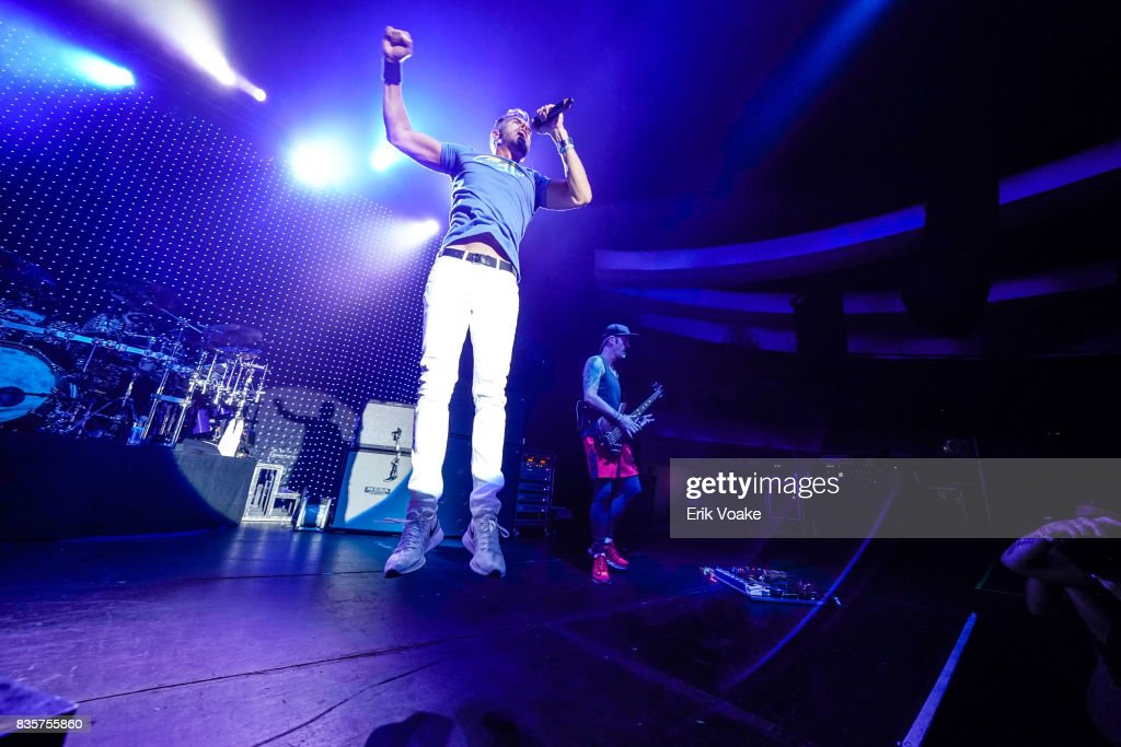 Nick Hexum of 311 performs at Hollywood Palladium on August 19, 2017 in Los Angeles, California.