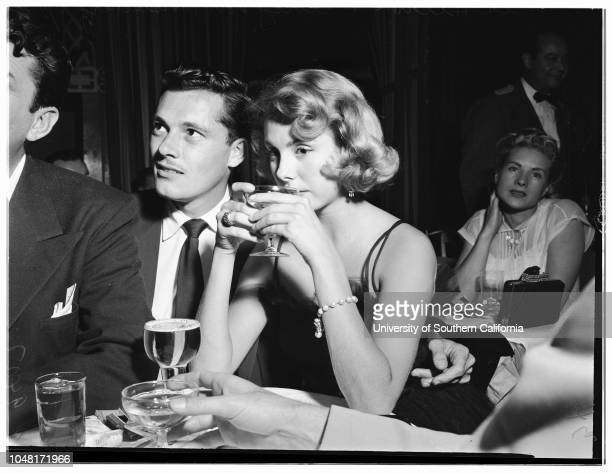 Nick Hilton and fiance at the Mocambo night club 28 November 1951 John Carroll Nick HiltonBetsy Von FurstenbergBill McCarthy Los Angeles California...