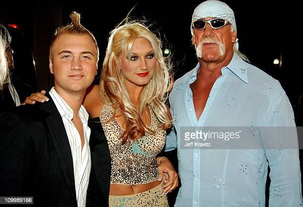 Nick Hogan, Brooke Hogan and Hulk Hogan during VH1 Big in '05 - Red Carpet at Sony Studios in Los Angeles, California, United States.