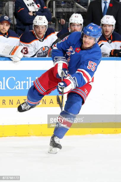 Nick Holden of the New York Rangers skates against the Edmonton Oilers at Madison Square Garden on November 11 2017 in New York City The New York...