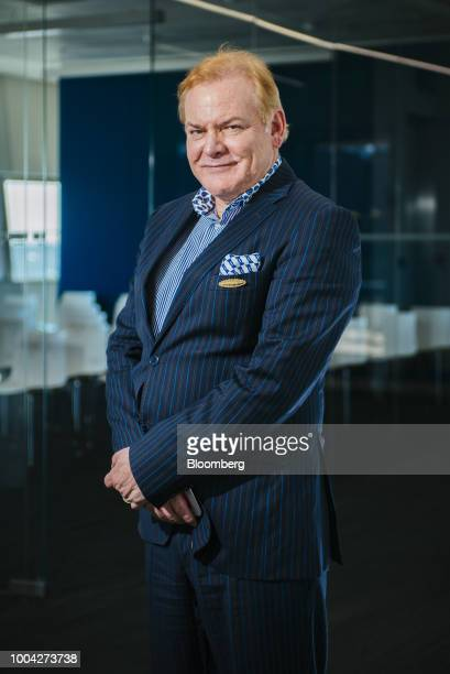 Nick Holland chief executive officer of Gold Fields Ltd poses for a photograph following an interview in Johannesburg South Africa on Monday July 23...