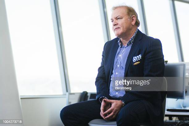 Nick Holland chief executive officer of Gold Fields Ltd speaks during a Bloomberg Television interview in Johannesburg South Africa on Monday July 23...