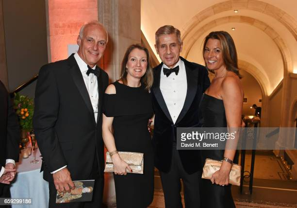Nick Hollingworth Anna Hartropp Lord Stuart Rose and Tania FosterBrown attend the Portrait Gala 2017 sponsored by William Son at the National...