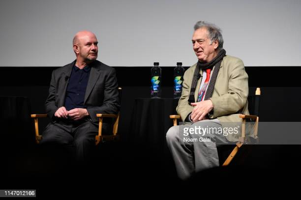 Nick Hornby and Stephen Frears attend the 'State Of The Union' screening during the 2019 Tribeca Film Festival at SVA Theater on May 04 2019 in New...