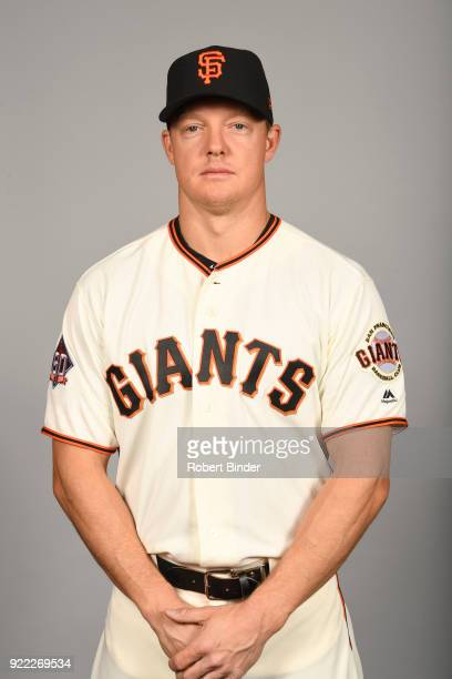 Nick Hundley of the San Francisco Giants poses during Photo Day on Tuesday February 20 2018 at Scottsdale Stadium in Scottsdale Arizona