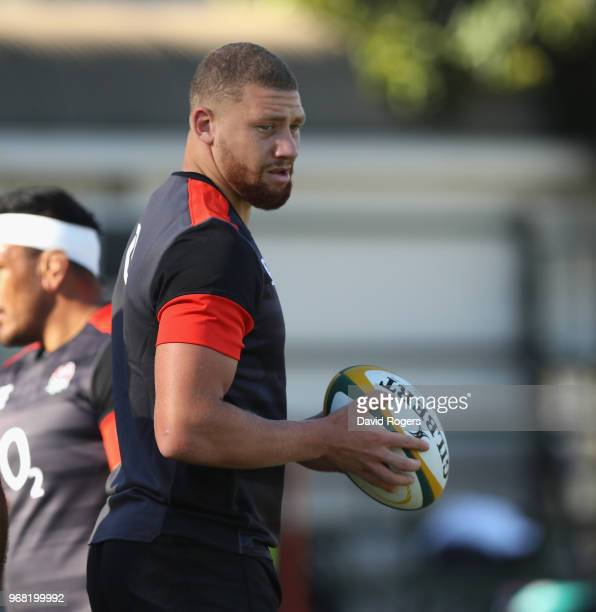 Nick Isiekwe looks on during the England training session at Kings Park Stadium on June 6 2018 in Durban South Africa