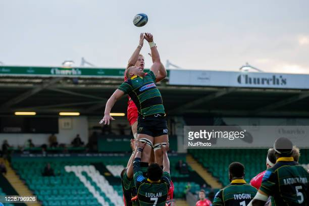 Nick Isiekwe of Northampton Saints and during the Gallagher Premiership match between Northampton Saints and Sale Sharks at Franklin's Gardens...
