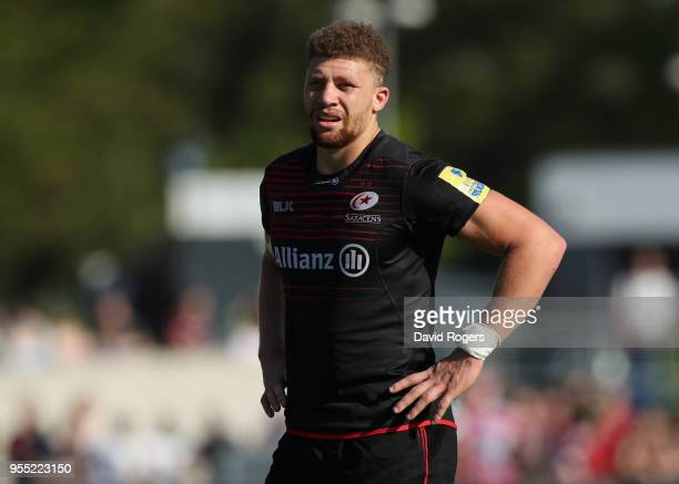 Nick Isiekwe of Saracens looks on during the Aviva Premiership match between Saracens and Gloucester Rugby at Allianz Park on May 5 2018 in Barnet...