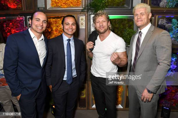 Nick Jackson Matt Jackson Kenny Omega and Cody Rhodes attend the Warner Media Entertainment TCA Party on July 24 2019 in Beverly Hills California