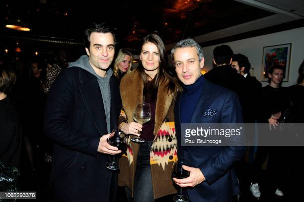 "Nick Jarecki, Natasha Schuetz and Andrew Lauren attend Neon And The Cinema Society Host The After Party For Vox Lux"" at Society Cafe on November 15,..."