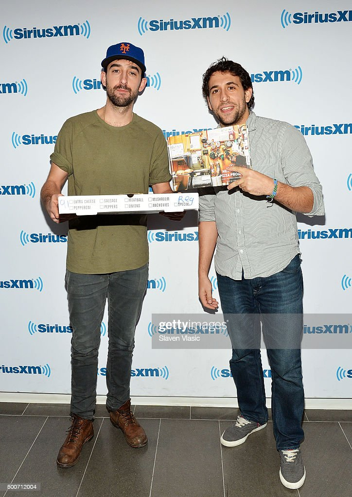 Nick Johnson (L) and Ian Manheimer, authors of The New York Pizza Project visit SiriusXM Studios on December 9, 2015 in New York City.