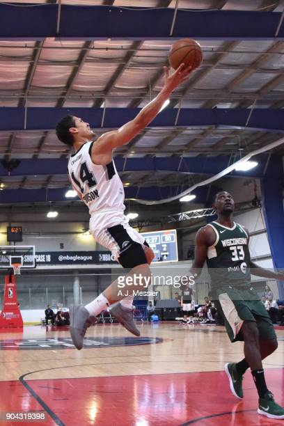 Nick Johnson of the Austin Spurs drives to the basket against the Wisconsin Herd during the GLeague Showcase on January 12 2018 at the Hershey Centre...