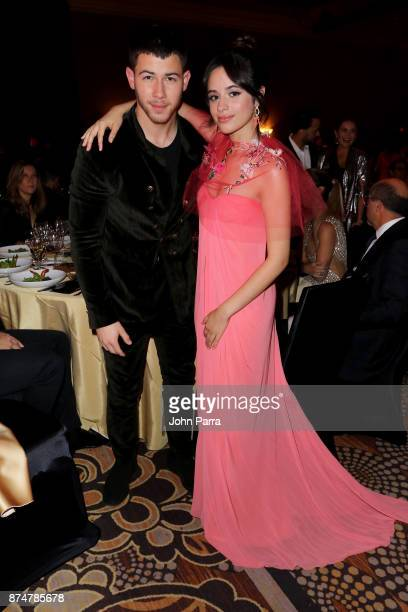 Nick Jonas and Camila Cabello attend the 2017 Person of the Year Gala honoring Alejandro Sanz at the Mandalay Bay Convention Center on November 15...