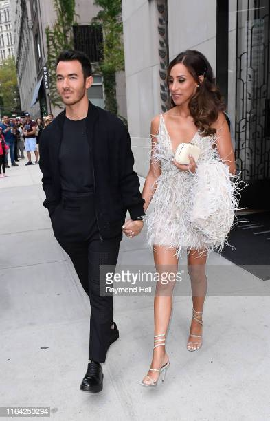 Nick Jonas and Danielle Jonas are seen walking in SoHo on August 26 2019 in New York City