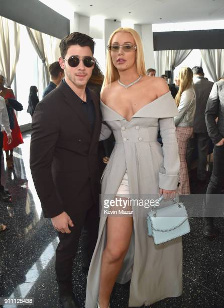 Nick Jonas and Iggy Azalea attend Roc Nation THE BRUNCH at One World Observatory on January 27 2018 in New York City