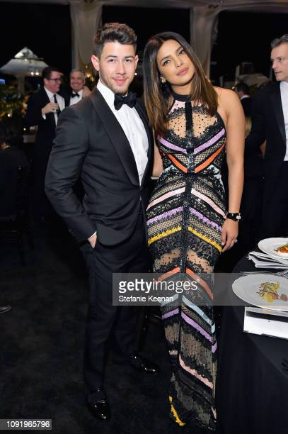 Nick Jonas and Priyanka Chopra attend Learning Lab Ventures 2019 Gala Presented by Farfetch at Beverly Hills Hotel on January 31 2019 in Beverly...