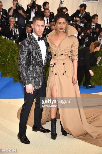 Nick Jonas and Priyanka Chopra attends the Rei Kawakubo/Comme des Garcons Art Of The InBetween Costume Institute Gala at Metropolitan Museum of Art...