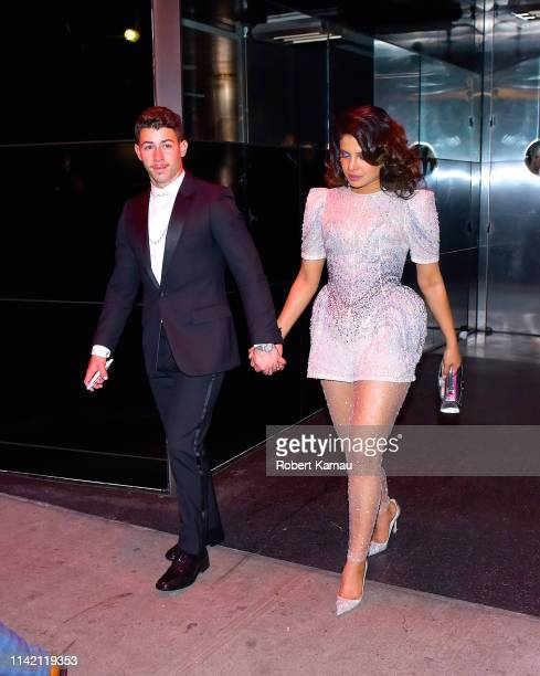Nick Jonas and Priyanka Chopra seen out on the 2019 MET Gala day on May 6 2019 in New York City