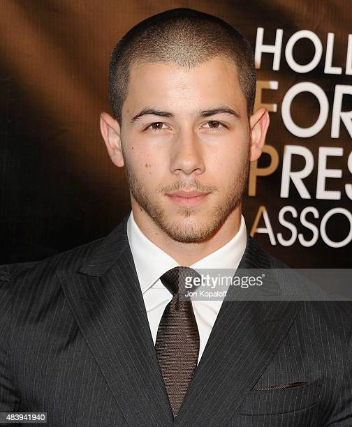 Nick Jonas arrives at Hollywood Foreign Press Association Hosts Annual Grants Banquet at the Beverly Wilshire Four Seasons Hotel on August 13 2015 in...