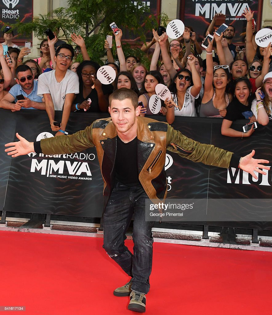 Nick Jonas arrives at the 2016 iHeartRADIO MuchMusic Video Awards at MuchMusic HQ on June 19, 2016 in Toronto, Canada.