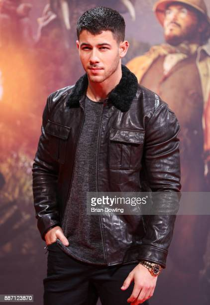 Nick Jonas arrives at the German premiere of 'Jumanji Willkommen im Dschungel' at Sony Centre on December 6 2017 in Berlin Germany