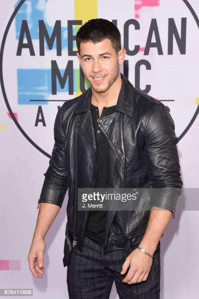 Nick Jonas attends 2017 American Music Awards at Microsoft Theater on November 19 2017 in Los Angeles California