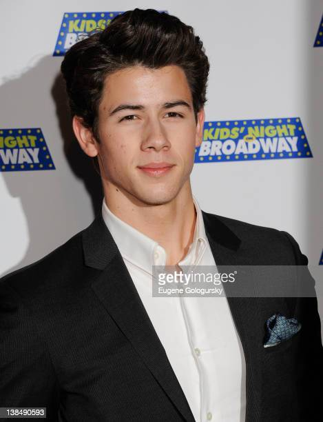 Nick Jonas attends a pretheater party during Kids Night On Broadway 2012 at Madame Tussauds on February 7 2012 in New York City