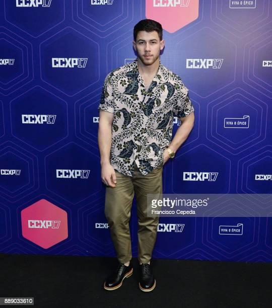Nick Jonas attends CCPX 2017 SP Expo Imigrantes/SP Brazil on December 9 2017 in Sao Paulo Brazil