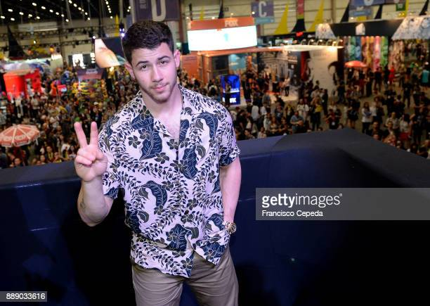 Nick Jonas attends CCPX 2017 SP Expo Imigrantes/SP Brazil on December 9 2017 in Sao Paulo Brazil