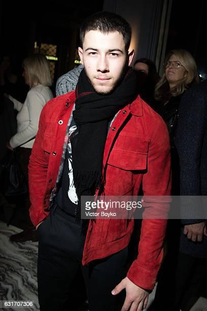Nick Jonas attends GQ Celebrates Milan Men's Fashion Week during Milan Men's Fashion Week Fall/Winter 2017/18 on December 14 2016 in Milan Italy