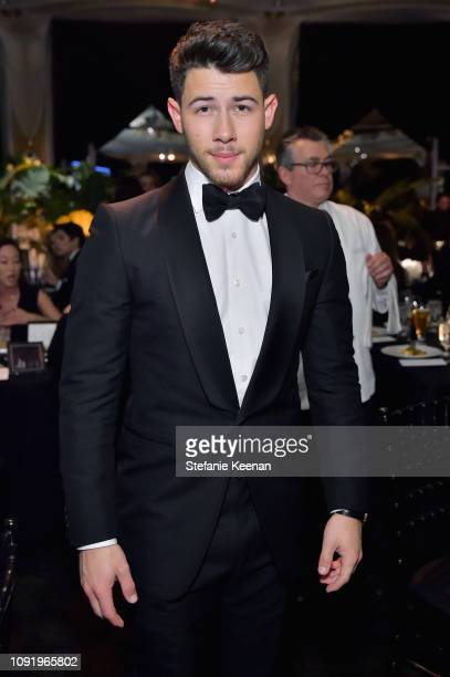 Nick Jonas attends Learning Lab Ventures 2019 Gala Presented by Farfetch at Beverly Hills Hotel on January 31 2019 in Beverly Hills California