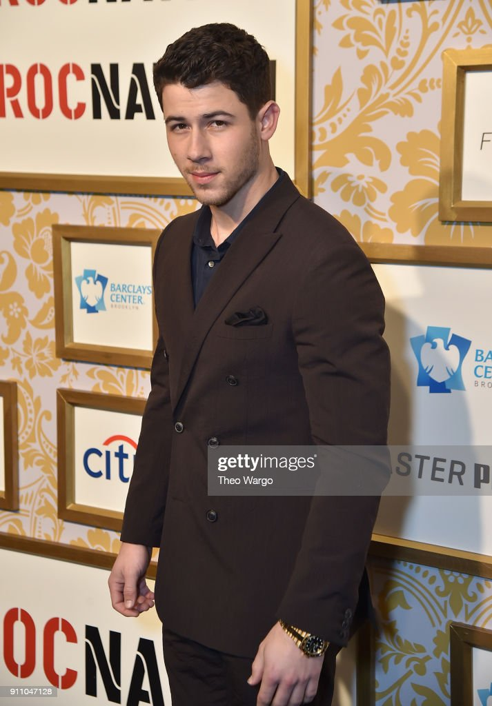 Nick Jonas attends Roc Nation THE BRUNCH at One World Observatory on January 27, 2018 in New York City.