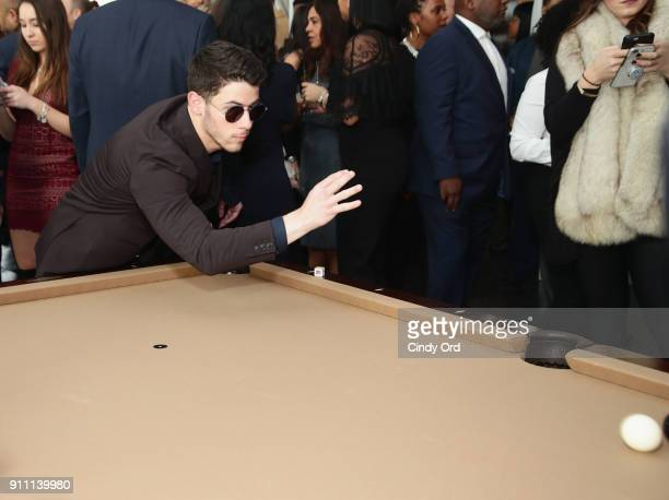 Nick Jonas attends Roc Nation THE BRUNCH at One World Observatory on January 27 2018 in New York City