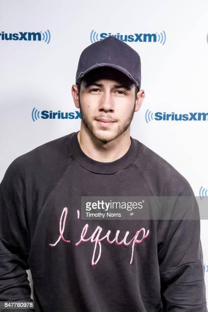 Nick Jonas attends SiriusXM Studios on September 15 2017 in Los Angeles California