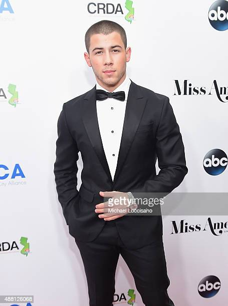 Nick Jonas attends the 2016 Miss America Competition at Boardwalk Hall Arena on September 13 2015 in Atlantic City New Jersey