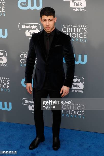 Nick Jonas attends the 23rd Annual Critics' Choice Awards at Barker Hangar on January 11 2018 in Santa Monica California