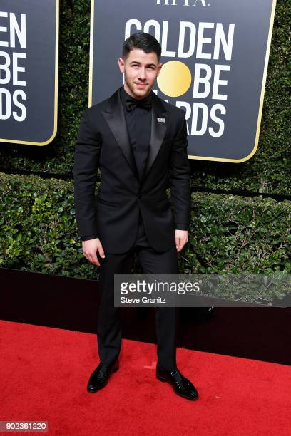 Nick Jonas attends The 75th Annual Golden Globe Awards at The Beverly Hilton Hotel on January 7 2018 in Beverly Hills California