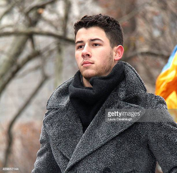 Nick Jonas attends the 88th Annual Macy's Thanksgiving Day Parade on November 27 2014 in New York City