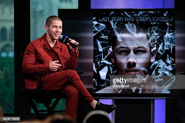 """Nick Jonas attends the AOL Build Speaker Series to discuss """"Last Year Was Complicated"""" at AOL Studios In New York on June 16, 2016 in New York City."""