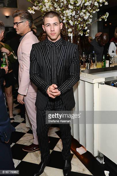 Nick Jonas attends The Daily Front Row Fashion Los Angeles Awards Private Dinner Hosted By Eva Chow And Carine Roitfeld at Mr Chow on March 20 2016...