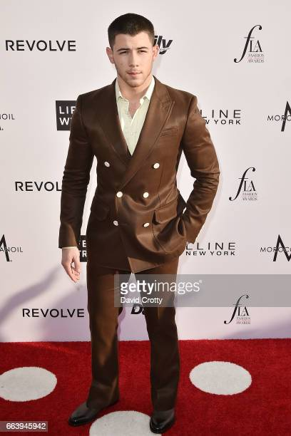 Nick Jonas attends the Daily Front Row's 3rd Annual Fashion Los Angeles Awards - Arrivals at Sunset Tower Hotel on April 2, 2017 in West Hollywood,...