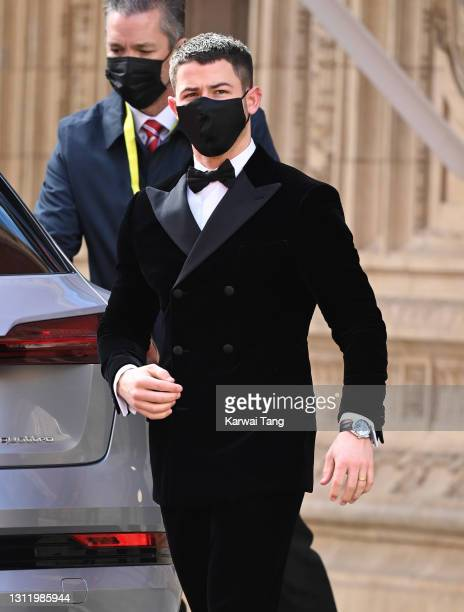 Nick Jonas attends the EE British Academy Film Awards 2021 at the Royal Albert Hall on April 11, 2021 in London, England.