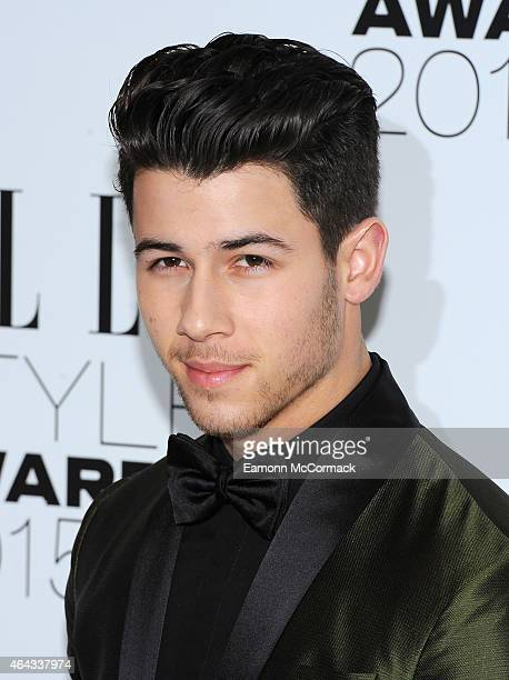 Nick Jonas attends the Elle Style Awards 2015 at Sky Garden @ The Walkie Talkie Tower on February 24 2015 in London England
