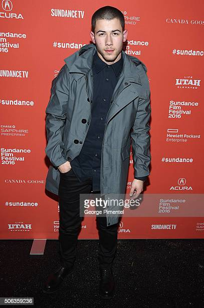 Nick Jonas attends the 'Goat' Premiere at Library Center Theater on January 22 2016 in Park City Utah