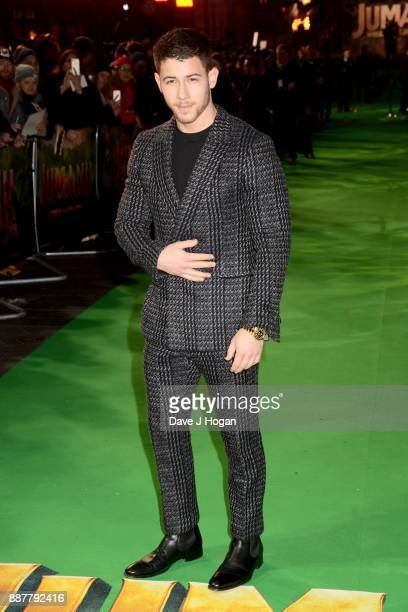 Nick Jonas attends the 'Jumanji Welcome To The Jungle' UK premiere held at Vue West End on December 7 2017 in London England