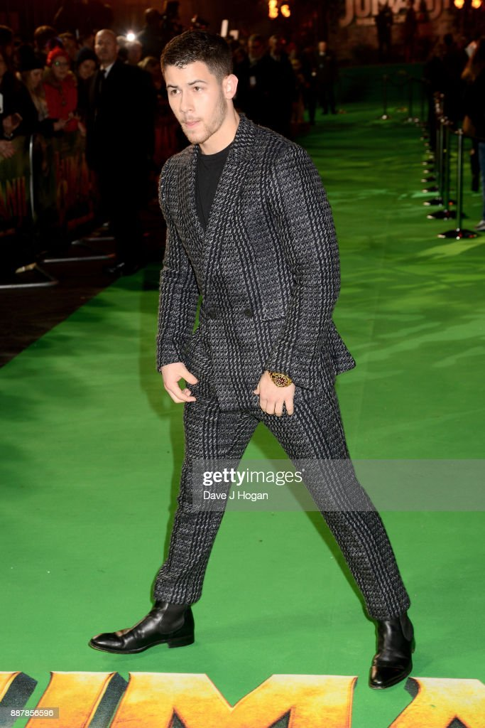 Nick Jonas attends the 'Jumanji: Welcome To The Jungle' UK premiere held at Vue West End on December 7, 2017 in London, England.