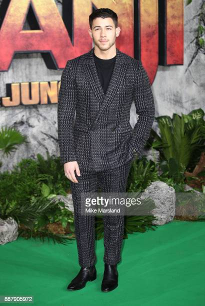 Nick Jonas attends the 'Jumanji Welcome To The Jungle UK premiere held at Vue West End on December 7 2017 in London England