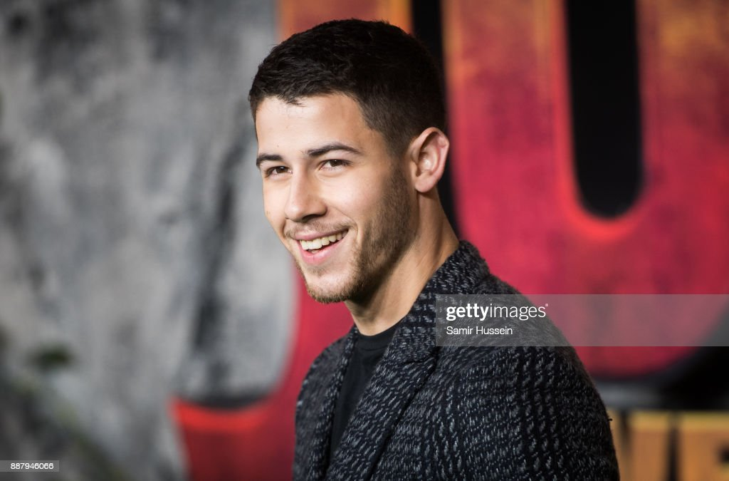 Nick Jonas attends the 'Jumanji: Welcome To The Jungle UK premiere held at Vue West End on December 7, 2017 in London, England.