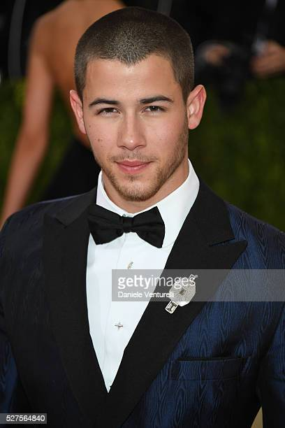 Nick Jonas attends the 'Manus x Machina Fashion In An Age Of Technology' Costume Institute Gala at the Metropolitan Museum on May 02 2016 in New York...